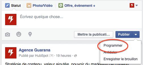 Comment programmer une publication sur Facebook