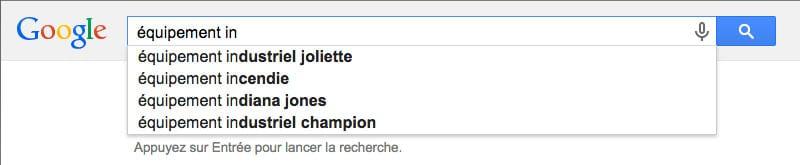 suggestions mots clés google