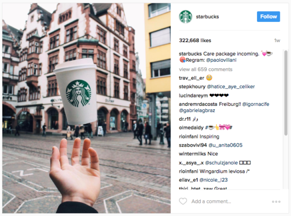 instagram campagne starbucks