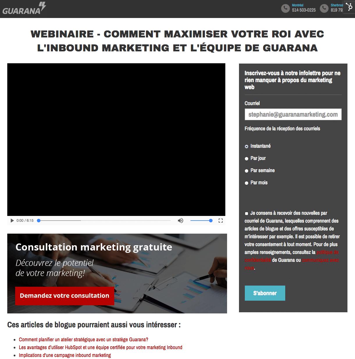 webinaire - video